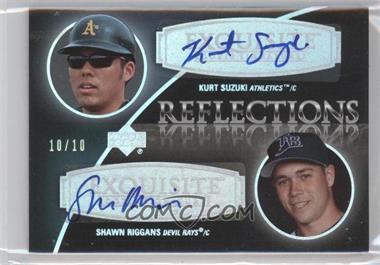 2007 Upper Deck Exquisite Rookie Signatures - Reflections - Silver Spectrum #REF-SR - Kurt Suzuki, Shawn Riggans /10