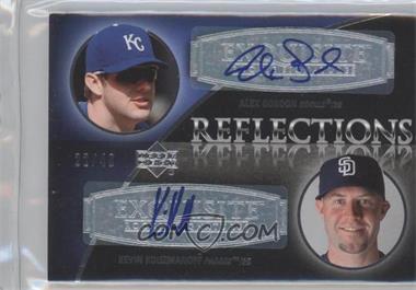 2007 Upper Deck Exquisite Rookie Signatures - Reflections #REF-GK - Alex Gordon, Kevin Kouzmanoff /40