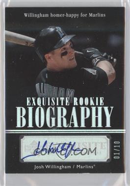 2007 Upper Deck Exquisite Rookie Signatures - Rookie Biography - Silver Spectrum #ERB-JW - Josh Willingham /10