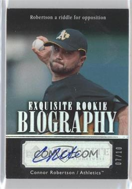 2007 Upper Deck Exquisite Rookie Signatures - Rookie Biography - Silver Spectrum #ERB-RO - Connor Robertson /10