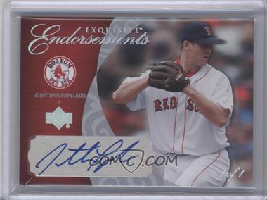 2007 Upper Deck Exquisite Rookie Signatures [???] #EE-JP - Jonathan Papelbon /1