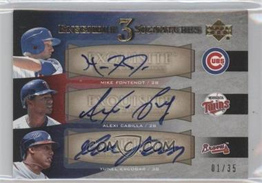 2007 Upper Deck Exquisite Rookie Signatures [???] #EE3-3 - Mike Fontenot, Yunel Escobar