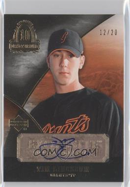 2007 Upper Deck Exquisite Rookie Signatures Draft Choice #EDC-TL - Tim Lincecum /20
