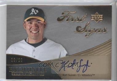 2007 Upper Deck Exquisite Rookie Signatures First Signs #FS-SU - Kurt Suzuki /20