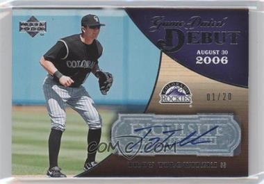 2007 Upper Deck Exquisite Rookie Signatures Game Dated Debut #GDD-TT - Troy Tulowitzki /20