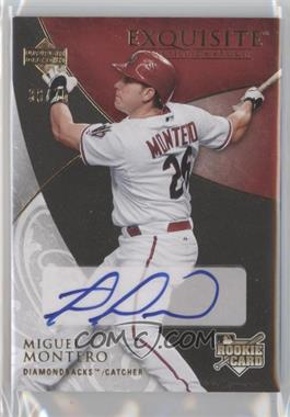 2007 Upper Deck Exquisite Rookie Signatures Gold #119 - Miguel Montero /75