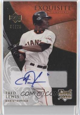 2007 Upper Deck Exquisite Rookie Signatures Gold #164 - Fred Lewis /25