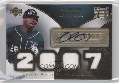 2007 Upper Deck Exquisite Rookie Signatures Gold #167 - Delmon Young /99