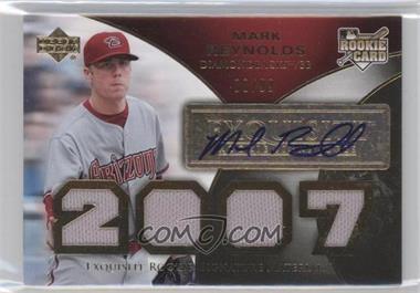 2007 Upper Deck Exquisite Rookie Signatures Gold #178 - Mark Reynolds /99