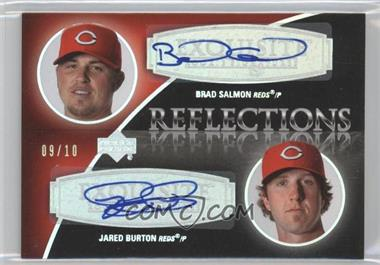 2007 Upper Deck Exquisite Rookie Signatures Reflections Silver Spectrum #REF-BJ - Brad Salmon, Jared Burton /10