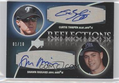 2007 Upper Deck Exquisite Rookie Signatures Reflections Silver Spectrum #REF-TR - Curtis Thigpen, Shawn Riggans /10