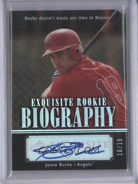 2007 Upper Deck Exquisite Rookie Signatures Rookie Biography Silver Spectrum #ERB-BU - Jason Bulger /10