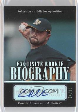 2007 Upper Deck Exquisite Rookie Signatures Rookie Biography Silver Spectrum #ERB-RO - Connor Robertson /10