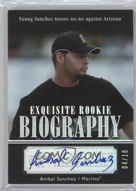 2007 Upper Deck Exquisite Rookie Signatures Rookie Biography Silver Spectrum #ERBN/A - Anibal Sanchez