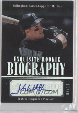 2007 Upper Deck Exquisite Rookie Signatures Rookie Biography Silver Spectrum #ERBN/A - Josh Willingham /10