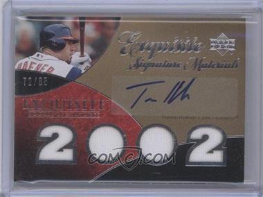 2007 Upper Deck Exquisite Rookie Signatures Signature Materials #ESM-HA - Travis Hafner /85
