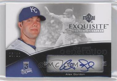 2007 Upper Deck Exquisite Rookie Signatures The Next Generation Gold #TNG-AG - Alex Gordon /15