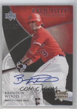 2007 Upper Deck Exquisite Rookie Signatures #147 - Brandon Wood /150