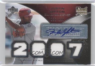 2007 Upper Deck Exquisite Rookie Signatures #162 - Justin Upton /199