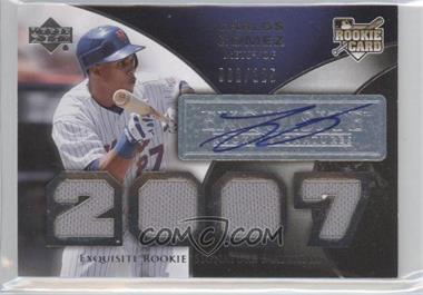 2007 Upper Deck Exquisite Rookie Signatures #193 - Carlos Gomez /125