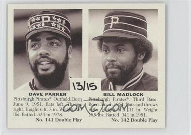 2007 Upper Deck Goudey - Double Play #141/142 - Bill Madlock, Dave Parker /15