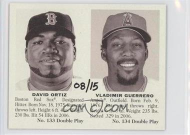 2007 Upper Deck Goudey Double Play #133/134 - Vladimir Guerrero, David Ortiz /15