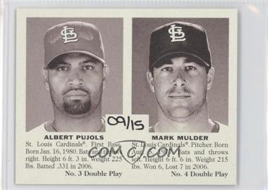 2007 Upper Deck Goudey Double Play #3/4 - Albert Pujols, Mark Mulder /15