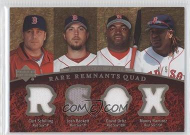 2007 Upper Deck Premier - [???] #RR-20 - Curt Schilling, Josh Beckett, David Ortiz, Manny Ramirez /5