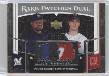 2007 Upper Deck Premier - Rare Patches Dual #RP2-FM - Prince Fielder, Justin Morneau /50