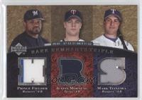 Prince Fielder, Justin Morneau, Mark Teixeira /50