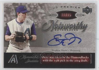 2007 Upper Deck Premier Noteworthy Autographs #NW-SD - Stephen Drew /15