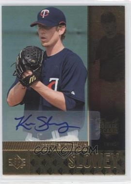 2007 Upper Deck SP Rookie Edition Rookie Signatures [Autographed] #105 - Kevin Slowey