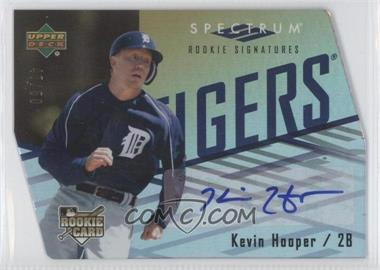 2007 Upper Deck Spectrum - [Base] - Gold Die-Cut #132 - Kevin Hooper