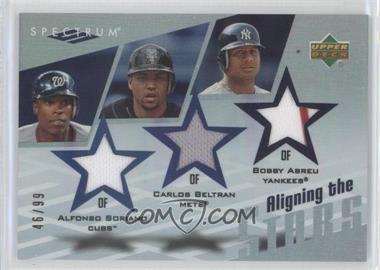 2007 Upper Deck Spectrum Aligning the Stars #AS-SBA - Alfonso Soriano, Carlos Beltran, Bobby Abreu /99