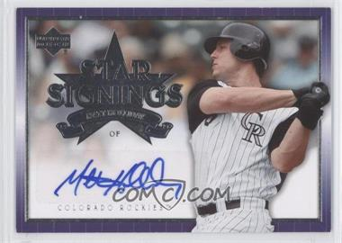 2007 Upper Deck Star Signings #SS-MH - Matt Holliday