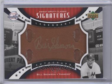 2007 Upper Deck Sweet Spot Classic - Sweet Spot Signatures - Leather Gold Ink #SPS-SK - Moose Skowron /50