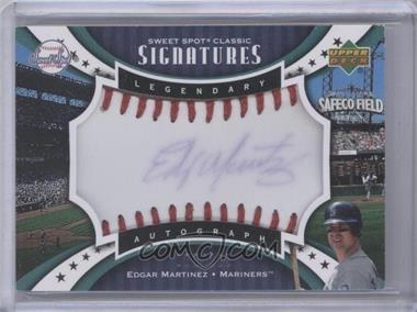 2007 Upper Deck Sweet Spot Classic Legendary Autograph Blue Ink Red Stitch #SPS-EM - Edgar Martinez /125