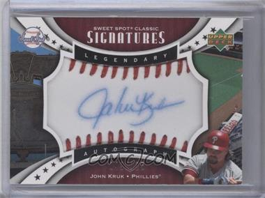 2007 Upper Deck Sweet Spot Classic Legendary Autograph Blue Ink Red Stitch #SPS-JK - John Kruk