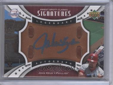 2007 Upper Deck Sweet Spot Classic Legendary Autograph Leather Blue Ink #SPS-JK - John Kruk /15