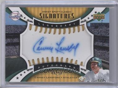 2007 Upper Deck Sweet Spot Sweet Spot Signatures Gold Stitch Blue Ink #SPS-CL - Carney Lansford /50