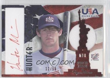 2007 Upper Deck USA Baseball National Jersey & Signature Red Ink #AJ-24 - Hunter Morris /50
