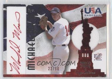 2007 Upper Deck USA Baseball National Jersey & Signature Red Ink #AJ-34 - Michael Main /50