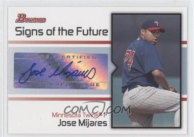 2008 Bowman [???] #SOF-JM - Jose Mijares