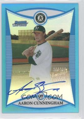 2008 Bowman Chrome Prospects Blue Refractor #BCP275 - Aaron Cunningham /150
