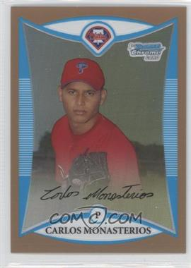 2008 Bowman Chrome Prospects Gold Refractor #BCP135 - Carlos Monasterios /50
