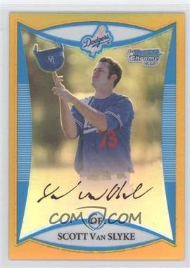 2008 Bowman Chrome Prospects Gold Refractor #BCP58 - Scott Van Slyke /50