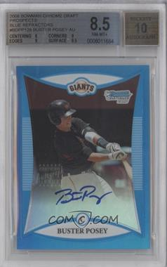 2008 Bowman Draft Picks & Prospects - Prospects - Chrome Blue Refractor #BDPP128 - Buster Posey /150 [BGS8.5]