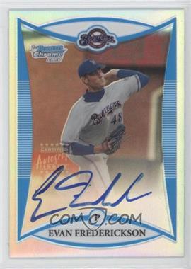 2008 Bowman Draft Picks & Prospects - Prospects - Chrome Refractor #BDPP121 - Evan Frederickson /500