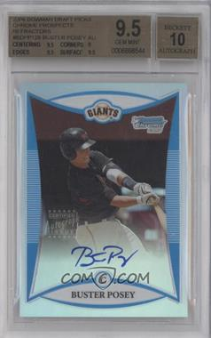 2008 Bowman Draft Picks & Prospects - Prospects - Chrome Refractor #BDPP128 - Buster Posey /500 [BGS9.5]