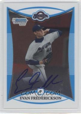 2008 Bowman Draft Picks & Prospects - Prospects - Chrome #BDPP121 - Evan Frederickson